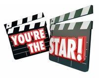 Vous êtes les clapets de film d'étoile illustration libre de droits
