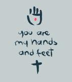 Vous êtes mes mains et pieds de b Photographie stock libre de droits