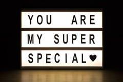Vous êtes mon caisson lumineux spécial superbe Photo libre de droits