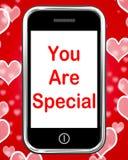 Vous êtes spécial sur l'amour de moyens de téléphone Romance illustration stock