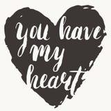 'Vous carte avez mon coeur' Images stock