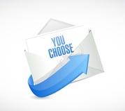 vous choisissez la conception d'illustration de message électronique Images libres de droits