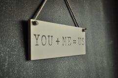 Vous et moi image stock