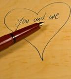 Vous et moi Photo stock