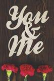 Vous et moi Image libre de droits