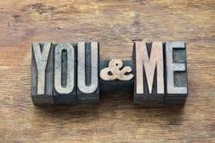 Vous et moi en bois Photographie stock libre de droits