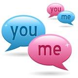 Vous et moi logo de causerie Photo libre de droits
