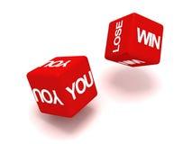 Vous gagnez ou détruisez le concept de cubes illustration stock