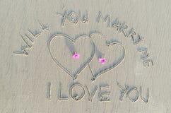 Vous m'épouserez Image stock
