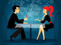 Vous m'épouserez, proposition de mariage Images stock