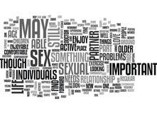 Vous néanmoins aurez une vie sexuelle active en votre nuage de Word Image libre de droits