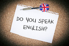 Vous parlez anglais photos libres de droits