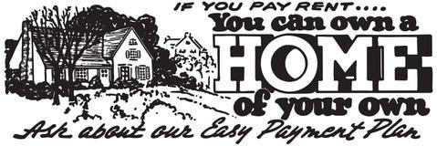 Vous pouvez posséder une maison illustration libre de droits