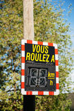 Vous Roulez A - Your Speed vehicle speed detector sig Royalty Free Stock Photos