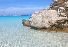 Voutoumi beach Antipaxos Ionian islands Greece royalty free stock photo
