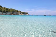 Voutoumi beach at Antipaxos island Greece royalty free stock image