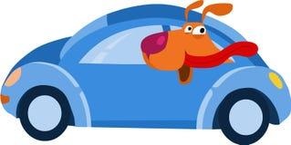 Vovve i bilen vektor illustrationer