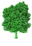 Voxel树 免版税库存图片