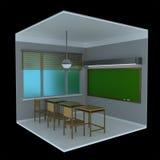 voxel 3d Klassenzimmer Lizenzfreie Stockfotos