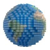 Voxel Earth vector illustration
