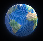 Voxel Earth Stock Image