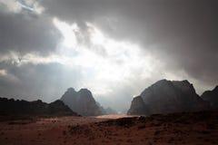 Wadi Rum Jordan. A voy in Jordan and in her beautiful desert of Wadi Rum Royalty Free Stock Images