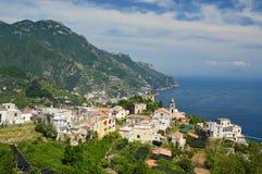 Voyage à la petite ville de Ravello, sur la côte d'Amalfi images libres de droits
