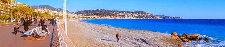 Voyage à Nice Promenade, bord de la mer photo stock