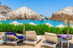 Voyage 2015, île de Rhodos, Lindos de la Grèce Images libres de droits