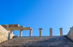 Voyage 2015, île de Rhodos, Lindos de la Grèce Photographie stock libre de droits