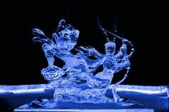 Voyage au bleu occidental de sculpture en glace Photos libres de droits