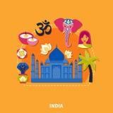 Voyage au fond d'Inde illustration libre de droits