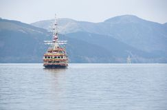 Voyage au Japon au lac Ashinoko dans Kanagawa, Japon photo stock