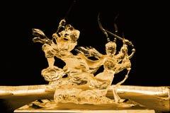 Voyage au jaune occidental de sculpture en glace images stock