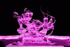 Voyage au rose occidental de sculpture en glace Photo libre de droits
