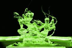 Voyage au vert occidental de sculpture en glace Image stock