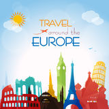 Voyage autour de l'Europe Image libre de droits