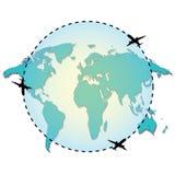 Voyage autour de l'illustration du monde Image libre de droits