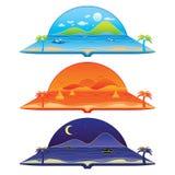 Voyage autour de la plage et de l'île du monde illustration libre de droits