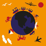 Voyage autour de monde Photographie stock libre de droits