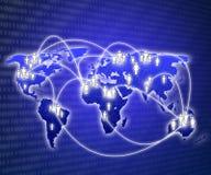 autour du globe Photographie stock libre de droits