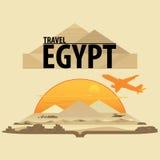 Voyage autour du monde Egypte illustration stock