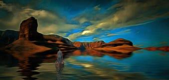Voyage aux rivages mystiques Photos stock