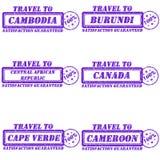 Voyage aux timbres Photo libre de droits