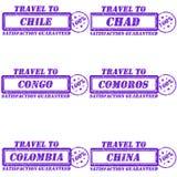 Voyage aux timbres Image libre de droits