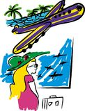 Voyage avec l'avion Image stock