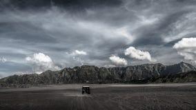 Voyage avec outre de la voiture de route Photo stock