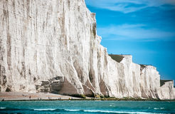 Voyage blanc de falaises de craie Images libres de droits