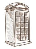 Voyage BRITANNIQUE britannique de symbole de cabine téléphonique vers l'Angleterre illustration stock