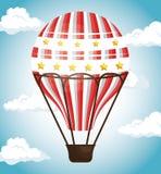 Voyage chaud d'air de ballon illustration stock